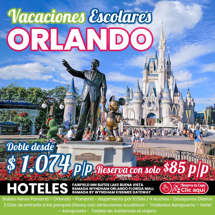 Vacaciones Escolares en Orlando
